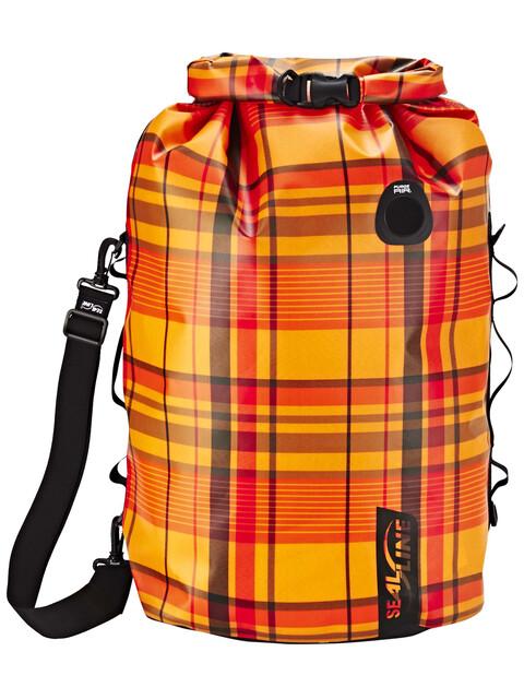 SealLine Discovery Dry Bag 50l orange plaid